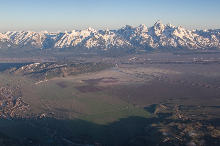 Jackson Hole Valley and Grand Teton National Park.