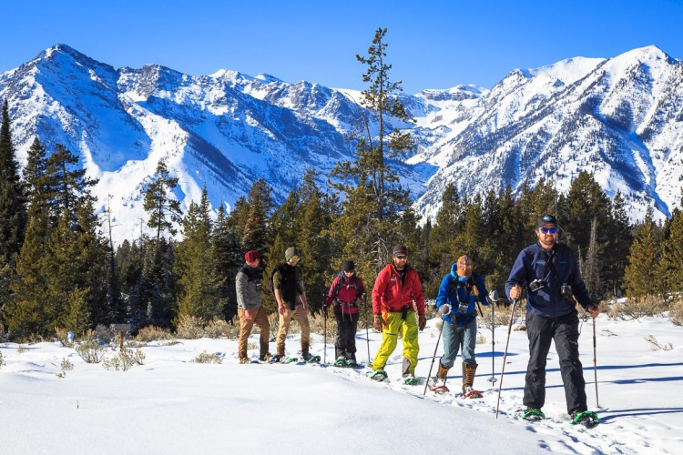 Ski and Snowshoe Tours in Jackson Hole and Grand Teton National Parks with Ecotour Adventures.