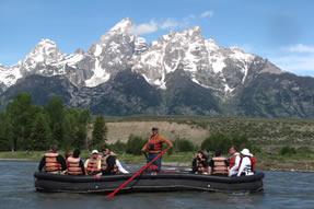 Rafting Tetons